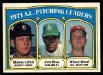 1972 O-Pee-Chee #94   -  Vida Blue / Mickey Lolich / Wilbur Wood AL Pitching Leaders   Front Thumbnail