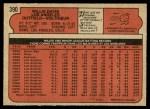1972 O-Pee-Chee #390  Willie Davis  Back Thumbnail