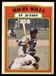 1972 O-Pee-Chee #438   -  Maury Wills In Action Front Thumbnail