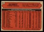 1972 O-Pee-Chee #22  Rob Gardner  Back Thumbnail