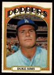 1972 O-Pee-Chee #63  Duke Sims  Front Thumbnail