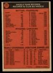 1972 O-Pee-Chee #71   Angels Team Back Thumbnail
