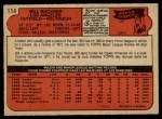 1972 O-Pee-Chee #114  Bill Buckner  Back Thumbnail