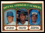 1972 O-Pee-Chee #95   -  Fergie Jenkins / Tom Seaver / Bil Stoneman NL Strikeout Leaders   Front Thumbnail