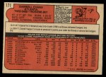 1972 O-Pee-Chee #171  Darrell Evans  Back Thumbnail