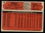 1972 O-Pee-Chee #150  Norm Cash  Back Thumbnail
