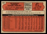 1972 O-Pee-Chee #132  Joe Morgan  Back Thumbnail