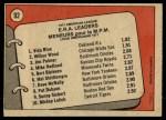 1972 O-Pee-Chee #92   -  Vida Blue / Jim Palmer / Wilbur Wood AL ERA Leaders   Back Thumbnail