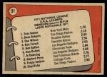 1972 O-Pee-Chee #91   -  Dave Roberts / Tom Seaver / Don Wilson NL ERA Leaders   Back Thumbnail