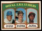 1972 O-Pee-Chee #91   -  Dave Roberts / Tom Seaver / Don Wilson NL ERA Leaders   Front Thumbnail