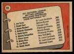 1972 O-Pee-Chee #85   -  Glenn Beckert / Ralph Garr / Joe Torre NL Batting Leaders   Back Thumbnail