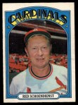 1972 O-Pee-Chee #67  Red Schoendienst  Front Thumbnail
