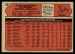 1972 O-Pee-Chee #502  Jackie Hernandez  Back Thumbnail