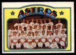 1972 O-Pee-Chee #282   Astros Team Front Thumbnail