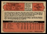 1972 O-Pee-Chee #277  Elliott Maddox  Back Thumbnail