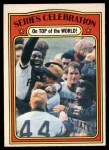 1972 O-Pee-Chee #230  Manny Sanguillen / Luke Walker / Gene Clines 1971 World Series Summary - Celebration Front Thumbnail