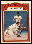 1972 O-Pee-Chee #224   -  Brooks Robinson / Mark Belanger 1971 World Series - Game #2 Front Thumbnail