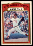 1972 O-Pee-Chee #223   -  Dave McNally 1971 World Series - Game #1 Front Thumbnail