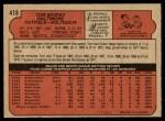 1972 O-Pee-Chee #418  Tom Shopay  Back Thumbnail