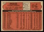 1972 O-Pee-Chee #414  Bob Miller  Back Thumbnail