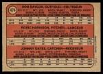 1972 O-Pee-Chee #474   -  Don Baylor / Roric Harrison / Johnny Oates Orioles Rookies   Back Thumbnail