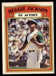 1972 O-Pee-Chee #436   -  Reggie Jackson In Action Front Thumbnail