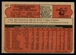 1972 O-Pee-Chee #431  Cito Gaston  Back Thumbnail