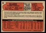 1972 O-Pee-Chee #66  Ray Corbin  Back Thumbnail