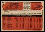 1972 O-Pee-Chee #81  Mike Hedlund  Back Thumbnail