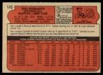 1972 O-Pee-Chee #145  Don Kessinger  Back Thumbnail
