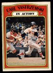 1972 O-Pee-Chee #38   -  Carl Yastrzemski In Action Front Thumbnail