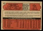 1972 O-Pee-Chee #523  Chuck Dobson  Back Thumbnail