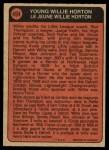1972 O-Pee-Chee #494   -  Willie Horton Boyhood Photo Back Thumbnail