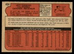 1972 O-Pee-Chee #404  Jeff Torborg  Back Thumbnail