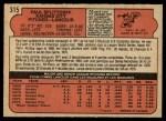 1972 O-Pee-Chee #315  Paul Splittorff  Back Thumbnail