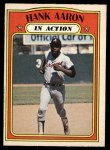 1972 O-Pee-Chee #300   -  Hank Aaron In Action Front Thumbnail