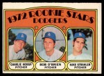 1972 O-Pee-Chee #198   -  Charlie Hough / Bob O'Brien / Mike Strahler Dodgers Rookies   Front Thumbnail
