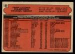 1972 O-Pee-Chee #188  Frank Lucchesi  Back Thumbnail