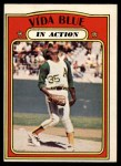 1972 O-Pee-Chee #170   -  Vida Blue In Action Front Thumbnail