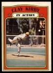 1972 O-Pee-Chee #174   -  Clay Kirby In Action Front Thumbnail