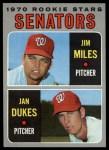 1970 Topps #154   -  Jan Dukes / Jim Miles Senators Rookies Front Thumbnail