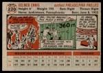 1956 Topps #220  Del Ennis  Back Thumbnail