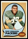 1970 Topps #102  Dave Robinson  Front Thumbnail
