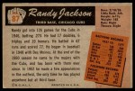 1955 Bowman #87  Randy Jackson  Back Thumbnail