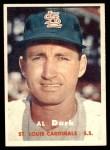 1957 Topps #98  Al Dark  Front Thumbnail