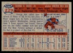 1957 Topps #229  George Susce  Back Thumbnail