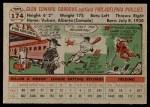 1956 Topps #174 GRY Glen Gorbous  Back Thumbnail