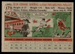 1956 Topps #174  Glen Gorbous  Back Thumbnail