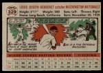 1956 Topps #329  Lou Berberet  Back Thumbnail