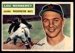 1956 Topps #329  Lou Berberet  Front Thumbnail